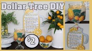 🍋 LEMON HOME DECOR 🍋 | Lemon Decor for Kitchen | FREE PRINTABLES | Dollar Tree DIY