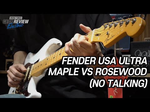 Fender American Ultra Maple Vs Rosewood Review (No Talking)