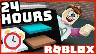 24 HOURS in a Roblox Mall!