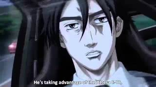 Repeat youtube video Initial D 5th Stage - Takahashi Ryousuke [Akagis White Comet] vs. Hojo Rin [Shinigami]