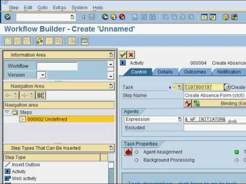How to create an SAP workflow  - Create Task (Part 1 of 4)