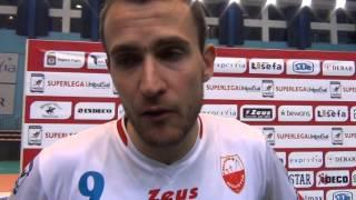 15-11-2015: #SuperLega Rocco Barone dopo la vittoria di Molfetta con Padova
