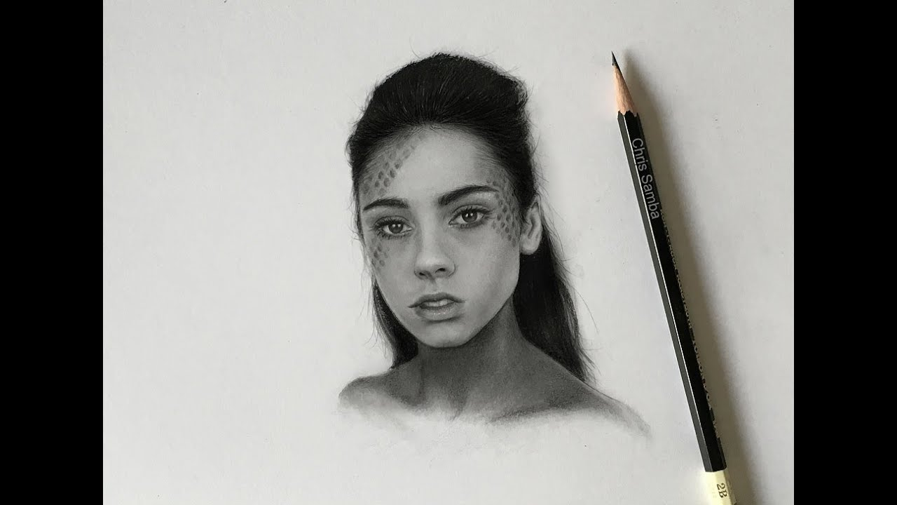 drawing a small realistic portrait youtube