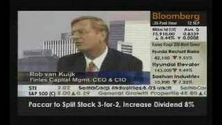Finles CEO Rob van Kuijk on Bloomberg Television