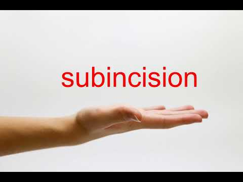 How to Pronounce subincision - American English
