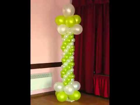 d coration de ballons pour mariage anniversaire ou autres v nements youtube. Black Bedroom Furniture Sets. Home Design Ideas