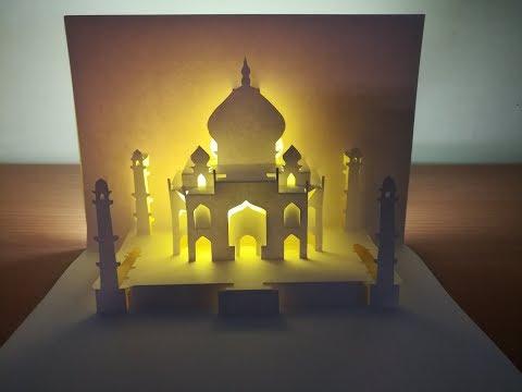 3d Taj Mahal | Pop up Taj Mahal card | paper art | kirigami | 3d泰姬瑪哈陵