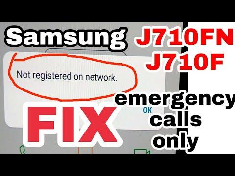 samsung j710f not registered on network or j710fn emergency calls only  solution