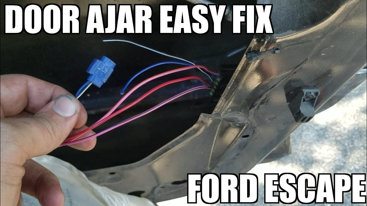ford escape passenger door ajar fix how to  [ 1280 x 720 Pixel ]