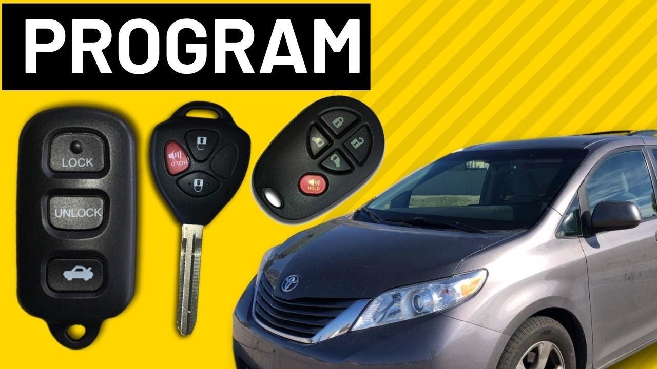 Easy Program Toyota Sienna Keyless Remote Fob (2004-2018)