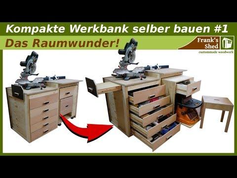 Werkbank Selber Bauen Aus Holz Kappsagestation Tisch Werkstatt Einrichten Franks Shed Handwerkertipps Einfach Erklart