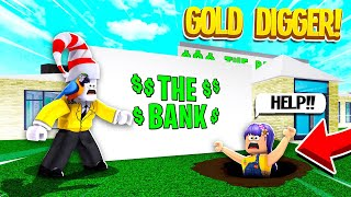 I Caught A GOLD DIGGER Pretending My Bank Was Hers.. (Roblox)