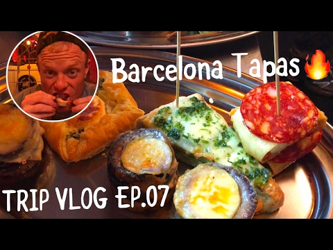 EPIC TAPAS FOODPORN🔥Arriving in Barcelona 🇪🇸DAILY TRAVEL VLOG 07! Famous Food in Spain Restaurant