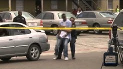 Houston man runs over people at a shooting crime scene!