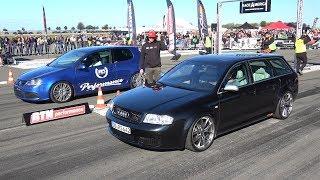 883HP Audi RS6 Avant C5 vs 980HP VW Golf R32 Turbo