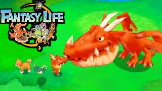 Fantasy Life 3ds: Nap Dragon Attack! New Mercenary Sword Gameplay Walkthrough Part 10 Nintendo
