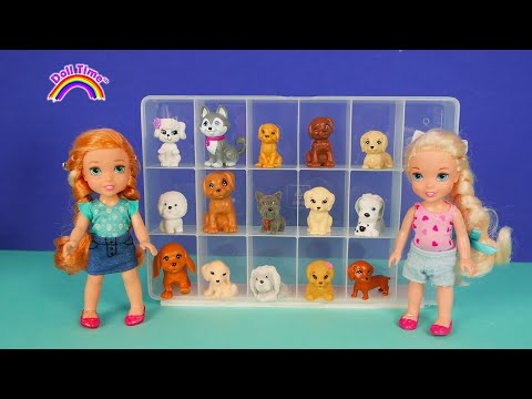 New Puppy! Elsa Anna Toddlers visit Pet Store