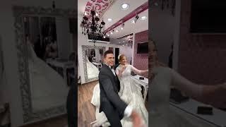 أول لقاء العريس لعروسته فى الكوافير ورقص هستيرى من العروسين ربنا يفرحهم
