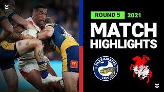 Eels v Dragons Match Highlights   Round 5, 2021   Telstra Premiership   NRL