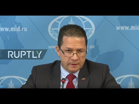 LIVE: Venezuela's Ambassador to Russia gives press briefing in Moscow