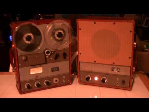 AMPEX 600 REEL TO REEL WITH AMPEX 620 SPEAKER AMP -- SIXTY MINUTE MAN -- THE DOMINOES