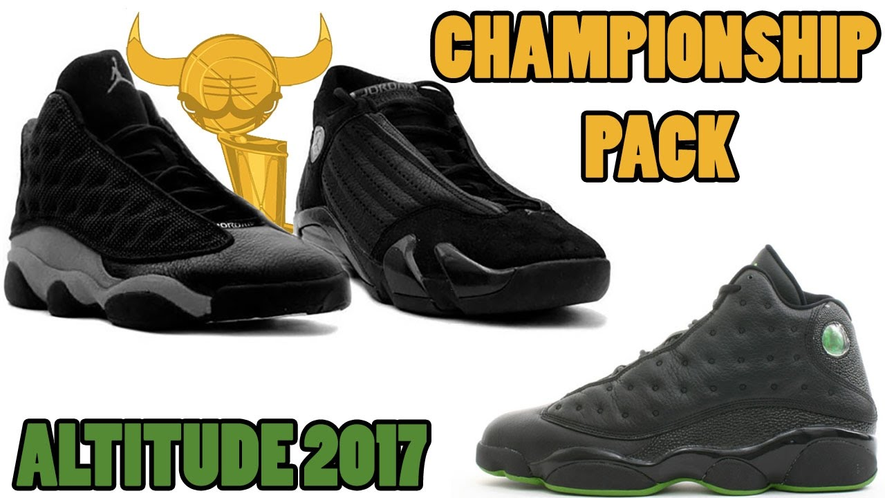 d642349967b4 Air Jordan 13 and 14 Championship Pack First Look