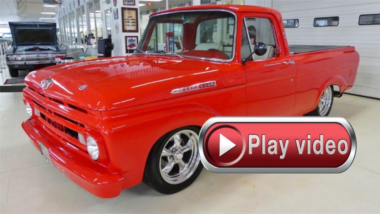 1961 Ford F 100 Pickup Big Block Auto Beautiful Youtube F100