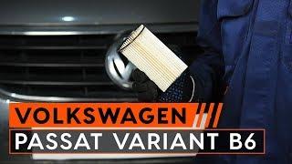 Hvordan bytte drivstoffilter på VW PASSAT VARIANT B6 3C [BRUKSANVISNING AUTODOC]