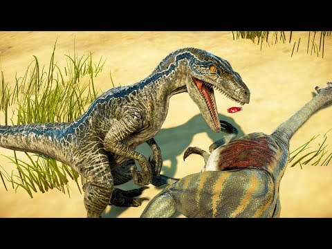🌍 Jurassic World Evolution - Raptor Squad Hunting in Desert Environment (Blue Charlie Delta Echo)  