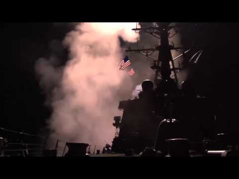 LIBYA, 2011! Tomahawk Cruise Missiles Launched from the USS Stout!