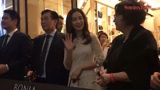 Kim Tae-hee aka Mrs Rain makes a guest appearance at Pavillion KL