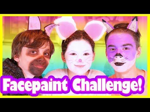 Face Paint CHALLENGE!  Nut Job 2 Movie!