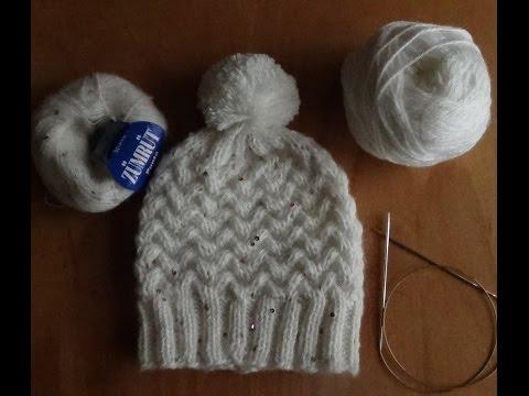 шапка плетенка ютуб