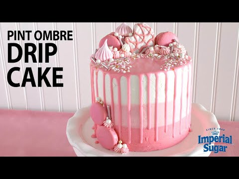 How To Make A Mini Pink Ombre Drip Cake Youtube