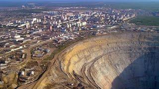 видео Самый большой алмазный карьер в мире