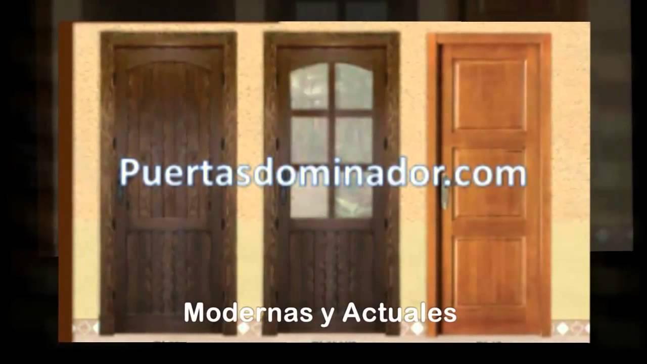 Puertas de madera maciza puerta interiores de madera youtube for Puertas de madera interiores