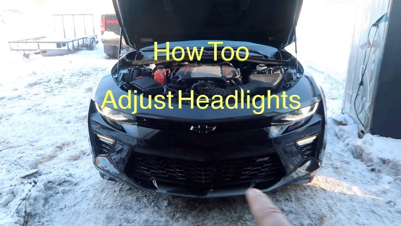 Headlight Adjust on 6th gen camaro ss -  How too -