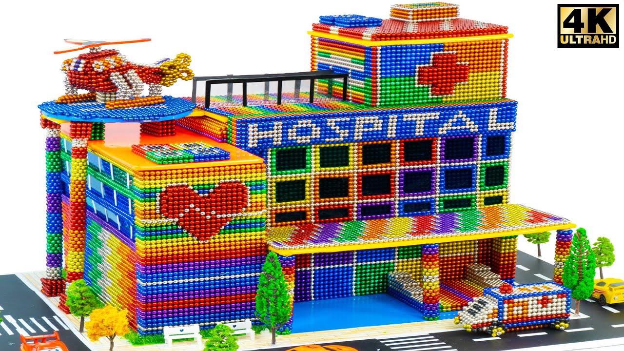 DIY - Build Modern Hospital From Magnetic Balls ( Satisfying ) | Magnet Satisfying