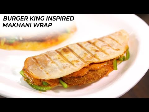 Crispy Veg Makhani Wrap – Burger King Style – CookingShooking