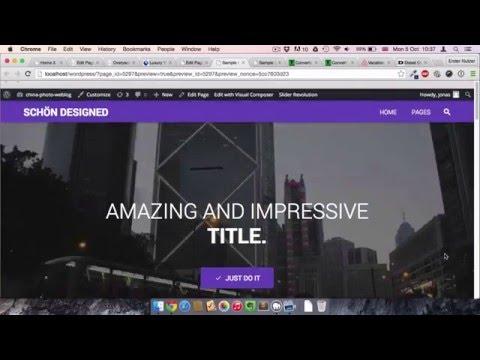 WordPress Fullscreen Video mit Visual Composer