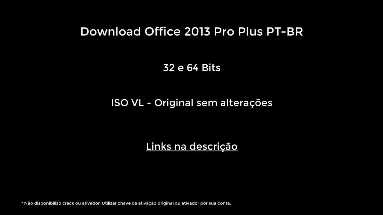 download office 2013 pt-br + ativador mega