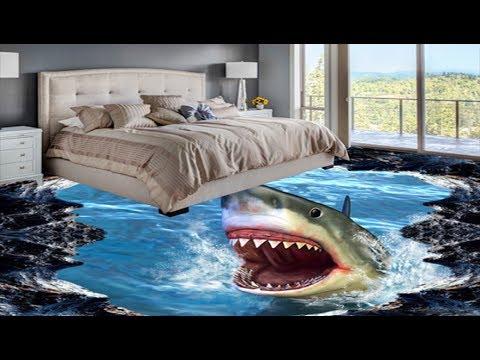 45 Amazing 3D Floor Painting Wallpaper for Living Room, Bath Room, 3D Street Painting Design 2017