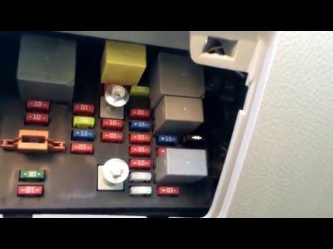 Kia Spectre 2004-2009 Fuse Box Location - YouTubeYouTube