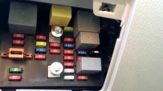 kia spectre 2004-2009 fuse box location - youtube  youtube