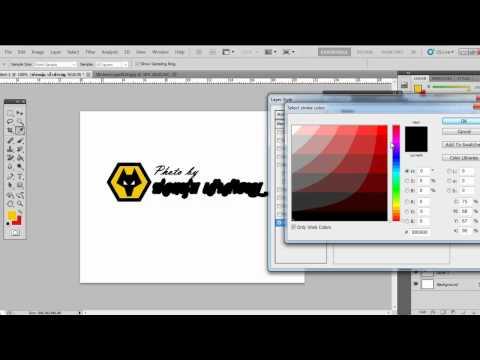 วิธีสร้าง logo ลายน้ำด้วย photoshop