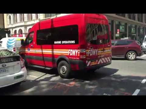 FDNY MARINE OPERATIONS UNIT ARRIVING FOR FDNY MEDAL CEREMONIES AT CITY HALL IN MANHATTAN, NEW YORK.