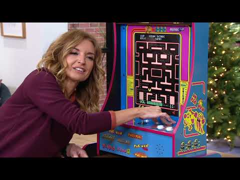 Arcade1Up Ms. Pacman 8-in-1 Partycade Arcade Machine on QVC from QVCtv