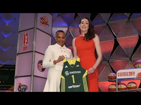 UConn Star Breanna Stewart Reacts to WNBA Draft