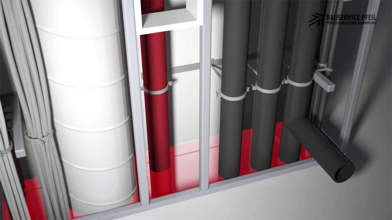 installationsschacht brandschutz rockwool knauf youtube. Black Bedroom Furniture Sets. Home Design Ideas