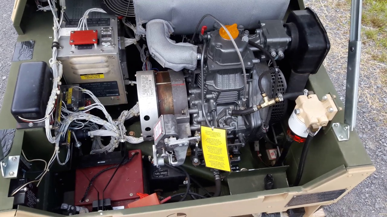2004 MEP-831A 3kw Diesel Generator For Sale (Only 2hrs) ****SOLD****